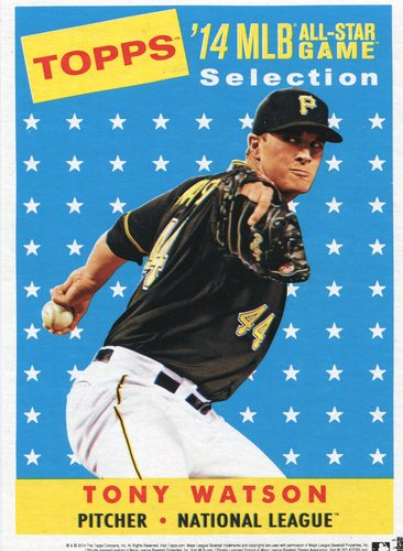 Photo of 2014 Topps 5x7 All-Star Selection Tony Watson -- Part of exclusive Minneapolis FanFest set