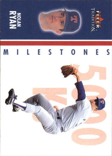 Photo of 2003 Fleer Tradition Milestones #9 Nolan Ryan
