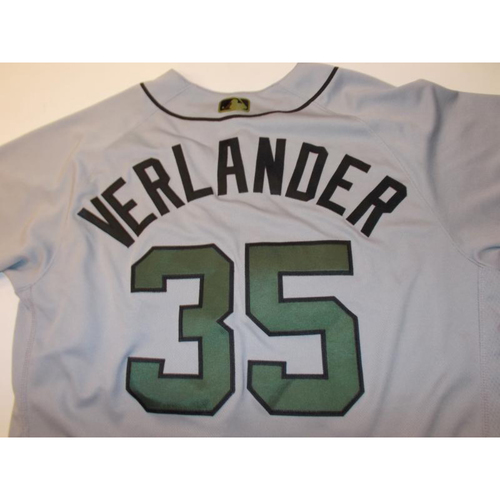 Photo of Game-Used Justin Verlander Memorial Day Jersey