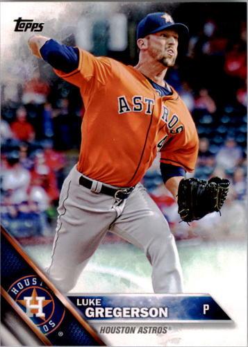 Photo of 2016 Topps #243 Luke Gregerson -- Astros post-season
