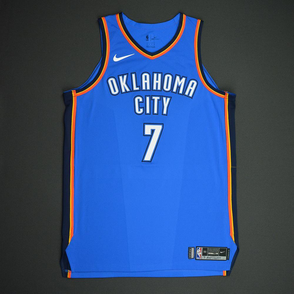 Carmelo Anthony - Oklahoma City Thunder - NBA Mexico City Games 2017 Game-Worn Jersey - Double-Double