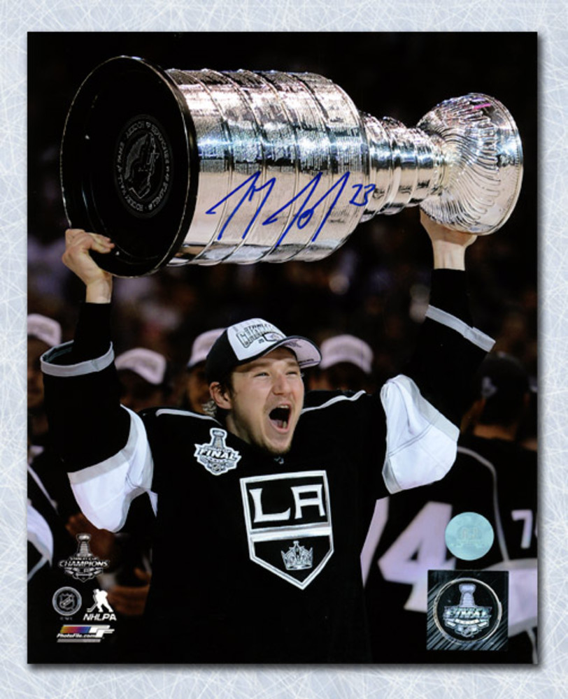 Tyler Toffoli Los Angeles Kings Autographed 2013 Stanley Cup 8x10 Photo