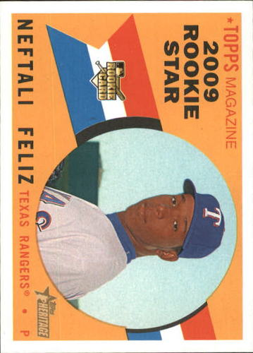 Photo of 2009 Topps Heritage #545a Neftali Feliz RC