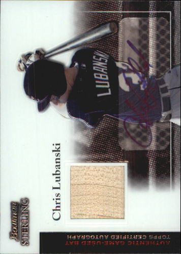 Photo of 2004 Bowman Sterling #CL Chris Lubanski AU Bat