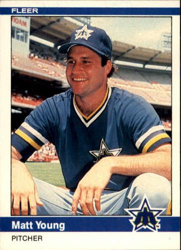 Photo of 1984 Fleer #624 Matt Young RC