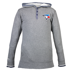 Toronto Blue Jays Seal The Win Longsleeve Hoody by Mitchell And Ness