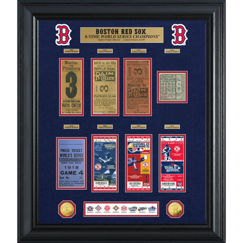 Photo of Serial #1! Boston Red Sox World Series Deluxe Gold Coin & Ticket Collection