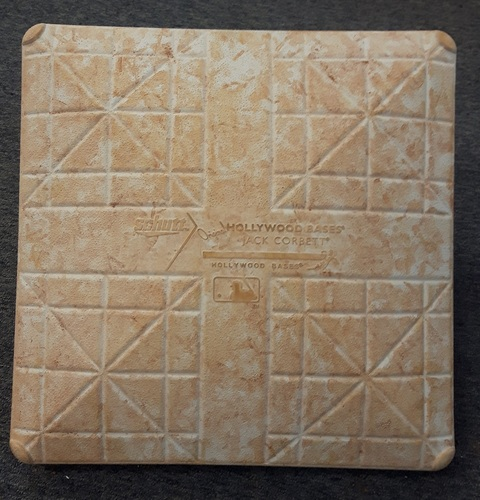 Photo of Authenticated Game Used Base - 2nd Base for Jose Bautista's 300th HR Game (Aug 2, 2016 vs HOU). Also the MLB Debut of Joe Musgrove.