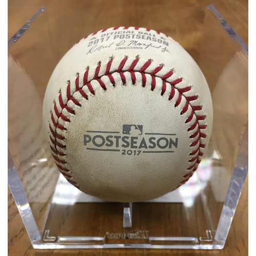 Photo of NLDS Game 2 Game-Used Baseball: Gio Gonzalez Strikes Out Anthony Rizzo