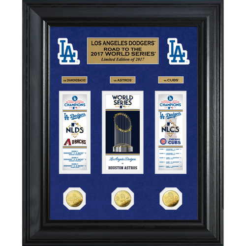 "Photo of Serial #1! Los Angeles Dodgers 2017 NL Champions ""Road to the World Series"" Deluxe Gold Coin Photo Mint"