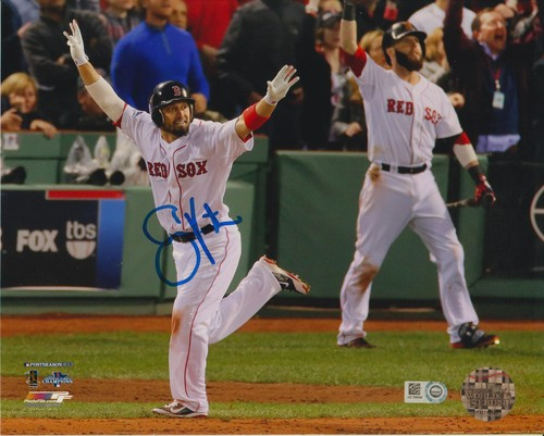 Photo of Shane Victorino Autographed 2013 ALCS Grand Slam 8x10