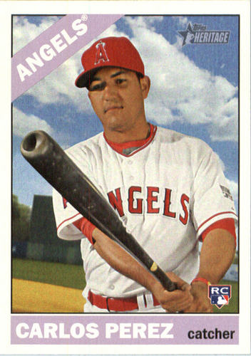 Photo of 2015 Topps Heritage #553 Carlos Perez RC