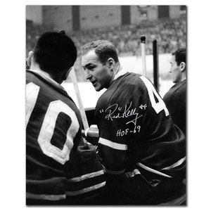 Red Kelly Toronto Maple Leafs HOF BENCH Autographed 8x10