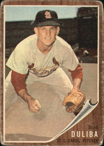 Photo of 1962 Topps #149 Bob Duliba