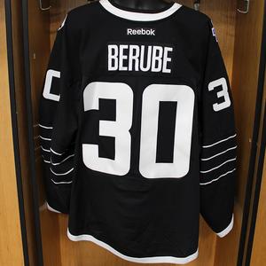 Jean-Francois Berube - Game Worn Third Jersey - 2015-16 Season - New York Islanders