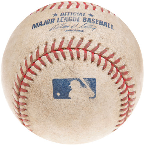 Photo of Game-Used Baseball from Greg Maddux's 341st Career Win  Game