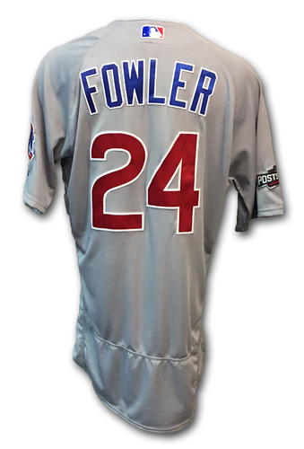 Photo of Dexter Fowler Game-Used Jersey -- Cubs at Dodgers -- NLCS Game 4 -- Fowler 2 for 5; 1 Run, 1 RBI -- 10/19/16 and NLCS Game 5 -- Fowler 2 for 5; 1 RBI -- 10/20/16