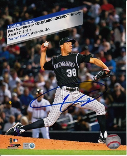 Photo of Ubaldo Jimenez Autographed 8x10