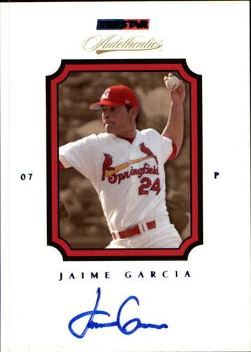 Photo of 2007 TRISTAR Autothentics Autographs Blue #46 Jamie Garcia