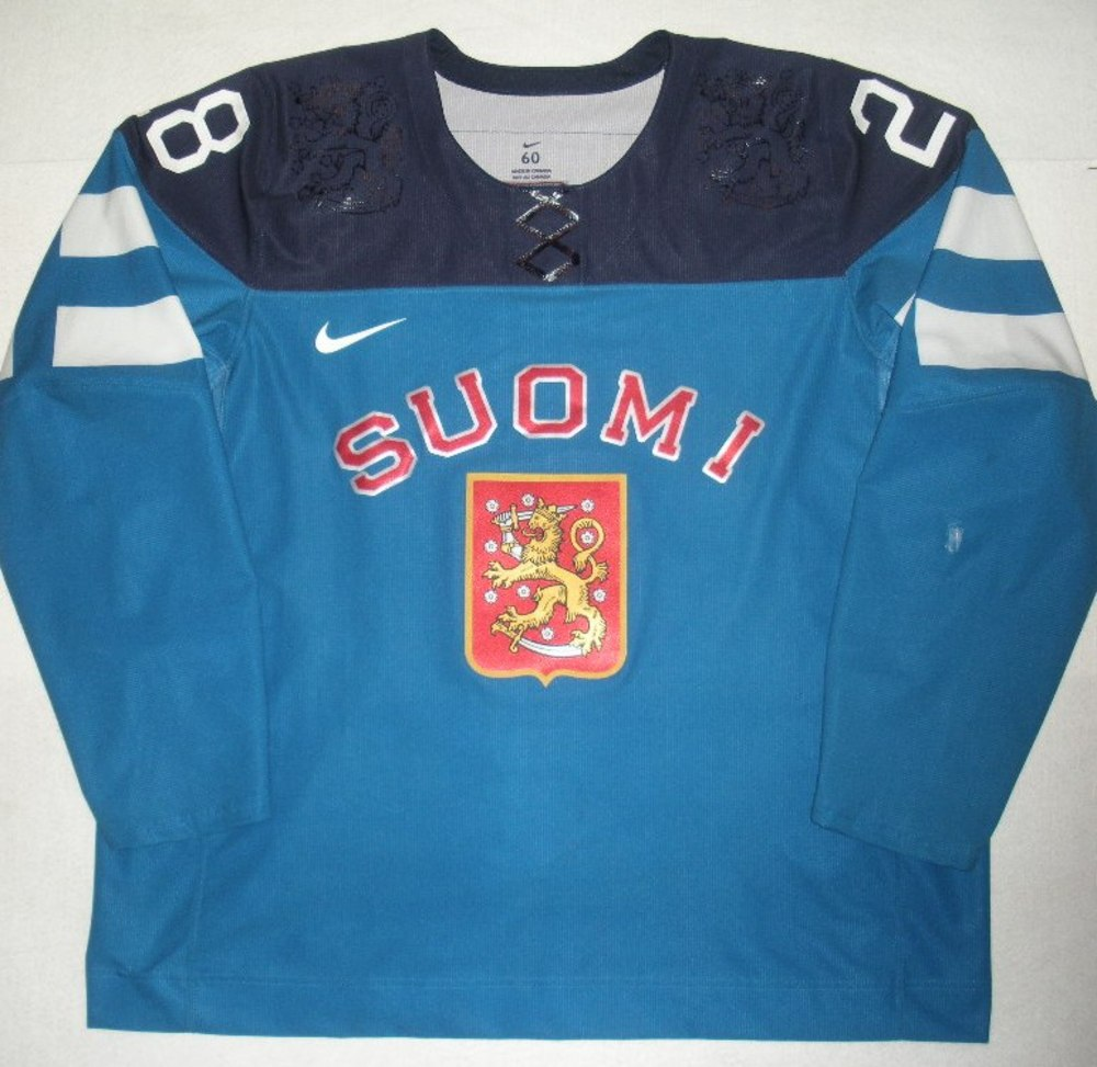 Jukka Nieminen Charity Auction - 2014 Sochi Olympics - Team Finland - Lauri Korpikoski Game-Worn Team Autographed Jersey