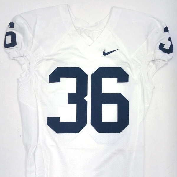 Penn State Game Used Football Jersey: White #36 (Size 44)