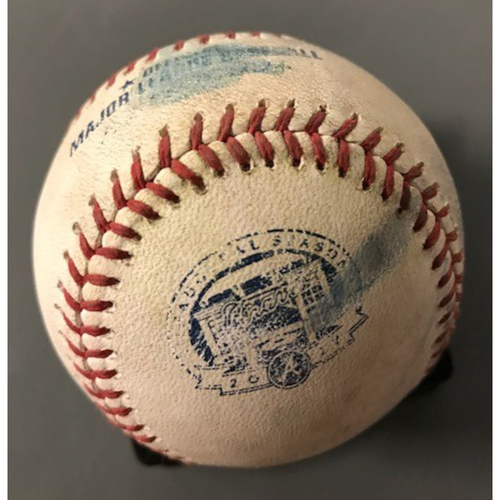 Dansby Swanson Game-Used Hit Double - June 9, 2017