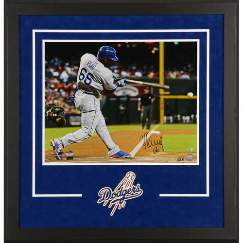 Yasiel Puig Los Angeles Dodgers Deluxe Framed Autographed 16