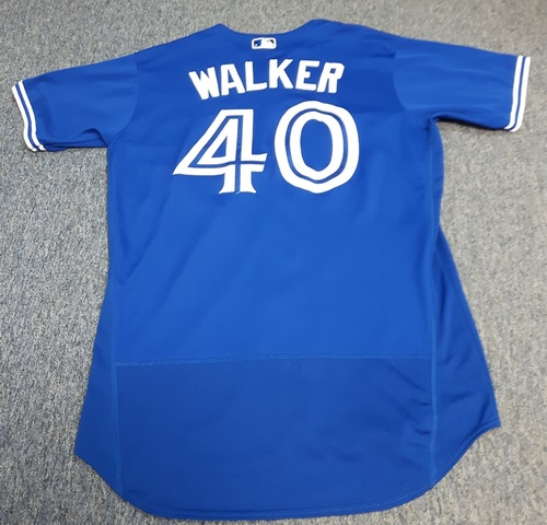 Photo of Authenticated Game Used Jersey - #40 Pete Walker (April 3, 2017: Opening Day). Size 46.