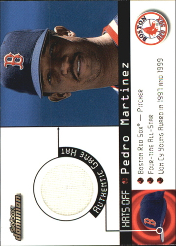 Photo of 2000 SkyBox Dominion Hats Off #9 Pedro Martinez