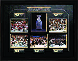 Stanley Cup - Framed Pieces of Net from Final Games 2008-2012 - NHL Playoffs