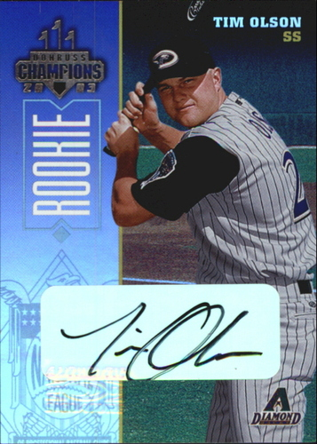 Photo of 2003 Donruss Champions Autographs #284 Tim Olson/500