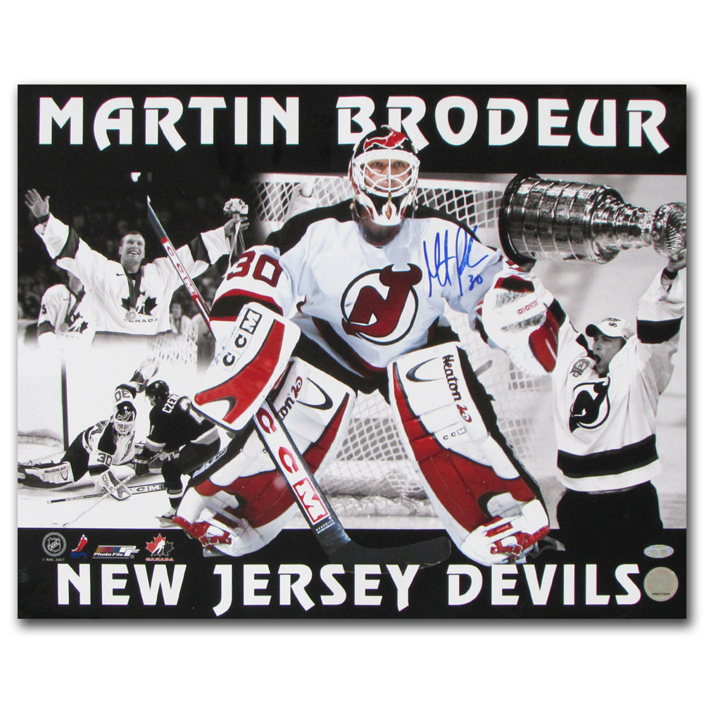 Martin Brodeur Autographed New Jersey Devils 16X20 Photos