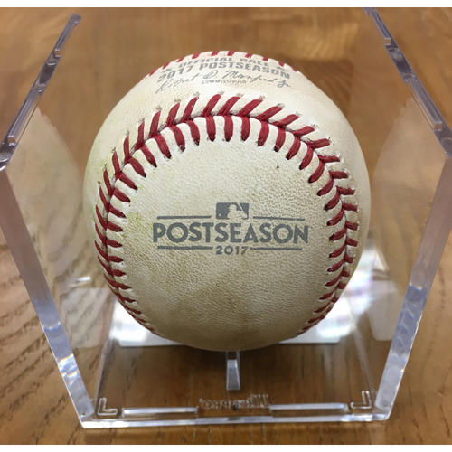 NLDS Game 2 Game-Used Baseball: Sean Doolittle Strikes Out Willson Contreras, Addison Russell Single
