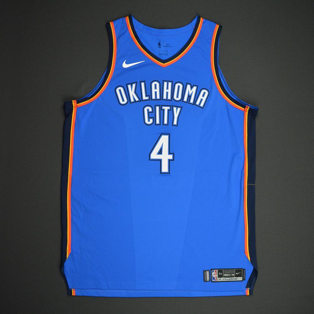Nick Collison - Oklahoma City Thunder - NBA Mexico City Games 2017 Game-Worn Jersey