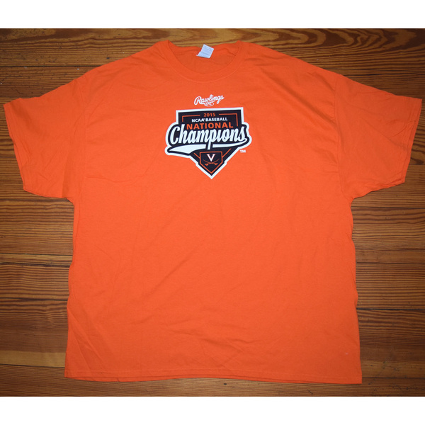 University of Virginia Baseball 2015 National Championship T-Shirt - Size 3XL
