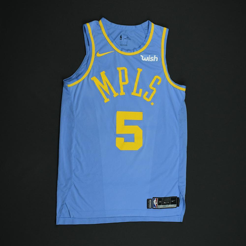 Josh Hart - Los Angeles Lakers - Game-Issued Classic Edition Minneapolis Lakers 1948-52 Road Jersey - 2017-18 Season