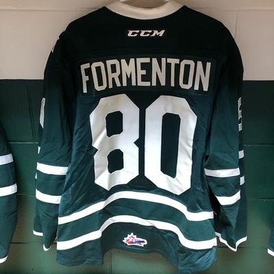 Alex Formenton 2016-2017 Green Game Jersey