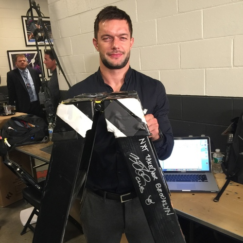 Photo of Kevin Owens & Finn Bálor SIGNED Ladder Piece (NXT TakeOver: Brooklyn - 08/22/15)