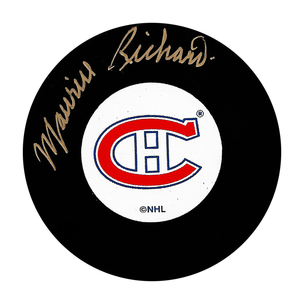 Maurice THE ROCKET Richard Autographed Montreal Canadiens Puck - RARE