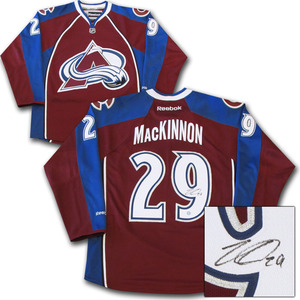 Nathan Mackinnon Autographed Colorado Avalanche Jersey