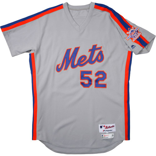 Photo of New York Mets 1986 Throwback Complete Game-Used Uniform Set - Yoenis Cespedes