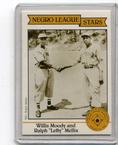 Photo of 1988 Negro LeagueDuquesne Light Co. #18 Willis Moody and/Ralph(Lefty) Mellix