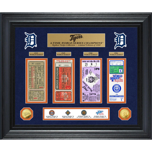 Photo of Serial #1! Detroit Tigers World Series Deluxe Gold Coin & Ticket Collection