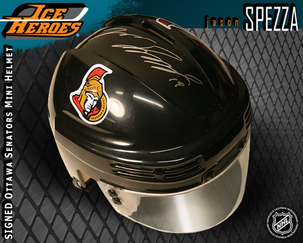 JASON SPEZZA Signed Ottawa Senators Black Mini Helmet