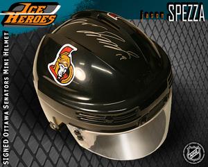 JASON SPEZZA Signed Ottawa Senators Black Mini Helmet