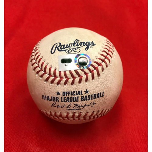Photo of Bronson Arroyo -- Game-Used Baseball -- Used for Arroyo's 611th Strikeout @ Great American Ball Park, Becoming the Stadium's All-Time Strikeout Leader -- Reds vs. Rockies on May 21, 2017