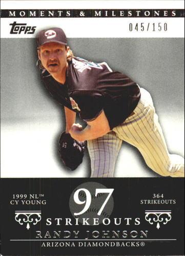 Photo of 2007 Topps Moments and Milestones #55-97 Randy Johnson/SO 97