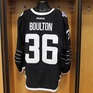 Eric Boulton - Game Worn Third Jersey - 2015-16 Season - New York Islanders