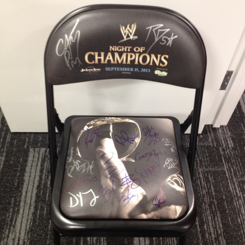 SIGNED Night Of Champions 2013 Event Chair