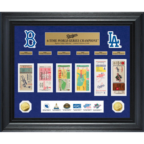 Photo of Serial #1! Los Angeles Dodgers World Series Deluxe Gold Coin & Ticket Collection